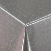 Plain Grey PVC Infused With Glitter Vinyl Wipe Clean Protector Tablecloth Cover in width 140cm - Sold by metre