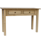 Vida Designs Panama 2 Drawer Console Table, Wood, Pine