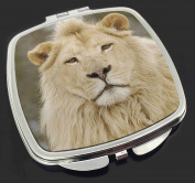White Lion Make-Up Compact Mirror Stocking Filler Gift