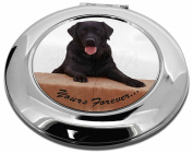 Black Labrador 'Yours Forever' Make-Up Round Compact Mirror Christmas Gift