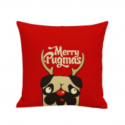 OverDose Home Decoration Christmas Cartoon Pillow Case Cushion Cover