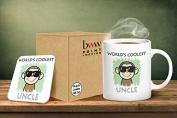 Worlds Coolest Uncle Mug And Matching Coaster Set