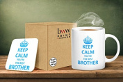 Keep Calm You're The Best Brother Mug And Matching Coaster Set
