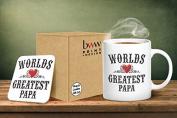 World's Greatest Papa Mug And Matching Coaster Set