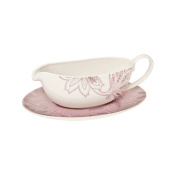 Denby Fine China 'Monsoon Chantilly' Sauce Boat & Stand