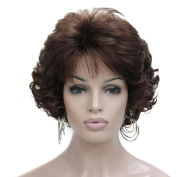 Kalyss Short Curly 100% Imported Premium Synthetic Fashion Brown Hair Wig For Women
