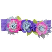 Lily & Momo Moonlight Flower Headband, Lilac & Pink