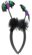 Capelli New York Ladies Glitter Bats and Tulle Headband Multi One Size