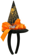 Capelli New York Ladies Spider Print With Bow Headband Black Combo One Size