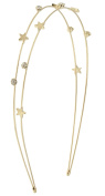 Capelli New York Ladies Mixed Stars Top Skinny Headband Gold One Size