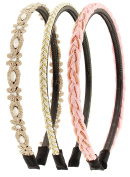 Capelli New York Ladies Mixed Designs Headbands Light Pink
