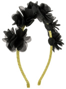 Capelli New York Girls Flower Top Headband Black Combo One Size
