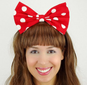 Minnie Mouse Bow Inspired Headband Red with White Polkadots Handmade Hair Accessory by Sweet in the City