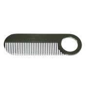 Stainless Steel Comb 14cm - Model No. 2 Black Comb by Chicago Comb