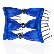 Boho Artisan Glass Wide Eyelet Combs