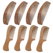 Xuanli Natural Wooden Tooth Beard and Hair Combs Set For Men and Women