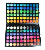 Bundle Monster 120 Full Colour Pro Eye Shadow (Eyeshadow) Cosmetics Makeup Palette - Shimmer / Matte Combo by Fixbub