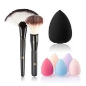 OULII 3pcs Makeup Brush Set Professional Blush Brusher Powder Makeup Tool with Water Drop Sponge Sponge - christmas gift