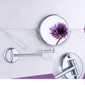 All copper mirror/Bathroom vanity mirror folding retractable/magnifier/Antique-sided beauty mirror-B