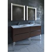 Nezza NLM-009-021 Ella Contemporary Illuminated LED Bathroom Medicine Cabinet Mirror, 50cm