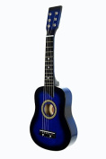60cm Blue Acoustic Toy Guitar for Kids with Carrying Bag and Accessories & DirectlyCheap(TM) Translucent Blue Medium Guitar Pick by Directly Cheap