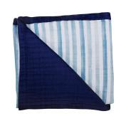 Bebe au Lait Luxury Oh-So-Soft Muslin Snuggle Blanket, Sailor/Carmel Bay