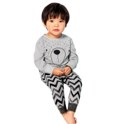Yoyorule Baby Boys Girls Long Sleeve Cartoon T-Shirt Tops+Pants Clothes Outfits (110