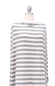 Covered Goods multi-use nursing cover - Glassic Grey and Ivory Stripe