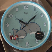 Quite 25cm Children Kids Wall Clock- Decorative - Digital Battery Operated Clocks- Best Child Bedroom Décor Ideas/ Baby Nursery Shower Gifts for Boys/Girls/Toddler
