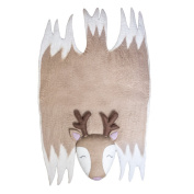 Nursery Decor - Children's Playmat - Elk Felted Wool Rug