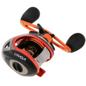 Lixada 10+1BB 6.3:1 Left/Right Hand Baitcasting Fishing Reel Orange