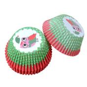 Szaerfa 100 PCS Baking Muffin Kitchen Cake Cup Christmas Owl Liners Cupcake Paper
