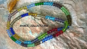 CRYSTAL(108+1) BEADS MULTI COLOURED JAPA MALA - 4MM  .