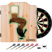 Trademark Gameroom Guinness Feathering Dart Cabinet Set with Darts & Board