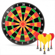 eshion Children Safety Magnetic Dart Board Set with 6pcs Flexible Magnetic Darts