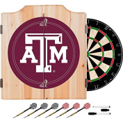 Texas A & M University Deluxe Solid Wood Cabinet Complete Dart Set - Officially Licenced!