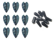 3 Sets of Harrows Vortex Dart Flights plus 3 Sets of Black Nylon Dart Flight Protectors