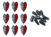 3 Sets of Harrows Vortex Dart Flights plus 3 Sets of Black Nylon Dart Flight Protectors