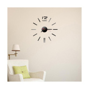 LEERYAMini Modern DIY Wall Clock 3D Sticker Design Home Office Room Decor