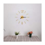 LEERYAMini Modern DIY Wall Clock 3D Sticker Design Home Office Room Decor