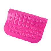BUYITNOW Bathroom Non-slip Mat PVC Suction Cup Massage Bathtub Pad Rose