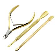 Alonea 3pcs Nail Cuticle Remover and Cutter Durable Manicure Tool Cuticle Nipper Cuticl