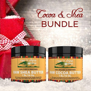 Butter Butter Bundle - (470ml) Cocoa Butter & (470ml) Shea Butter with RECIPE EBOOK - Organic Body Butters for All Your DIY Home Recipes Like Soap Making, Lotion, Shampoo, Lip Balm & Hand Cream