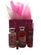 Bath & Body Works Velvet Sugar Gift Bag Set - Velvet Sugar Mist, Velvet Sugar Lotion, Velvet Sugar Gel & Gift Bag with a Jarosa Bee Organic Peppermint Lip Balm