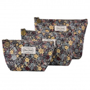 Micom Cute Floral Waterproof Travel Toiletry Cosmetic Bags Set for Women,girls