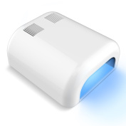 Nail Dryer, Breett 36W UV Lamp Tube Nail Dryer for Variety Acrylic, Gelish & Shellac Curing, Removable Tray & Timer Setting Function - White