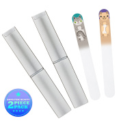 Pup & Kitten Czech Crystal Nail File Set For Newborns, Toddlers, Babies & Young Children - Gentle Baby Nail Care by Bona Fide Beauty - Perfect Gift for New Moms & Baby Showers