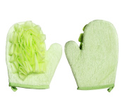 Yunko Double-sided Scrubbing Shower Gloves Deep Exfoliating Bath Sponge Loofah