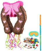 Pink Cowgirl Party Supplies - Pinata Kit by BirthdayExpress