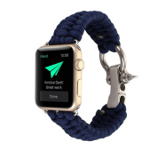 For iWatch Apple Watch Series 1/2 42MM Watch Band ,Sunfei NEW Nylon Rope Survival Bracelet